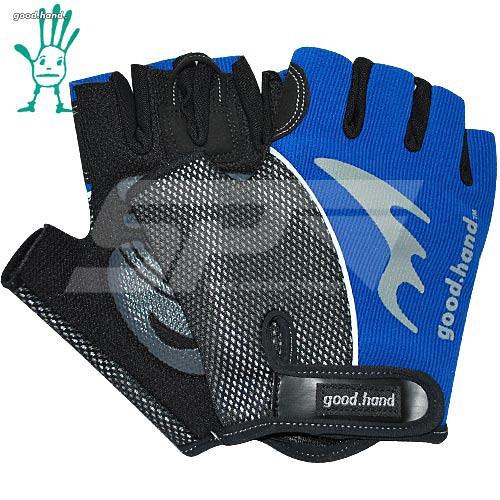 【good.hand】多功能半指自行車專用手套《藍色》