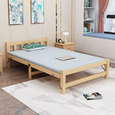 折疊床實木單人床1米簡易床兒童午休床成人雙人家用板式木板床