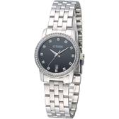 CITIZEN 閃耀年代時尚女錶-黑(EU6030-56E)