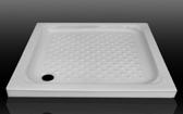 【麗室衛浴】 時尚高質感 90*90*10CM 白色方型陶瓷淋浴底盆 樣品出清