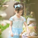 夢幻公主推薦~優雅水藍珍珠蝶結蕾絲洋裝(...