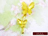 9999純金 黃金 墜飾 黃金花朵 墜子 送精緻皮繩項鍊 【花舞系列】
