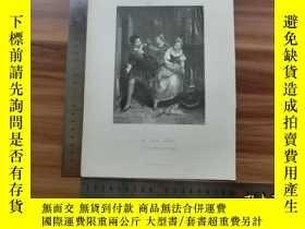 二手書博民逛書店【罕見】19世紀 銅 鋼版畫 單幅 THE BLIND MOTH