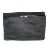 BALENCIAGA 巴黎世家 黑色LOGO棉質收納袋/手拿包Explorer Clutch 535334【BRAND OFF】