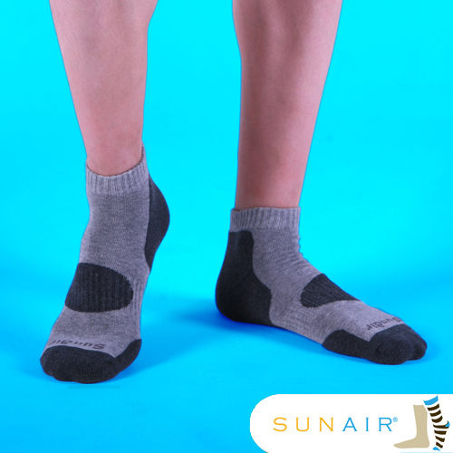 sunair 滅菌除臭襪子-自行車款L(25~29) (淺灰+深灰) /SA0103