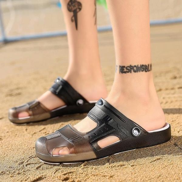 男童涼鞋 中通洞洞鞋男童防滑外穿沙灘鞋大童涼拖兩用夏季兒童涼鞋2020新款