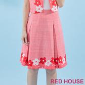 【RED HOUSE 蕾赫斯】格紋花朵印花裙(共2色) 任選2件899元