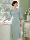 法式旗袍女蝕骨年輕款少女中國風氣質優雅倒大袖改良版洋裝 淇朵市集