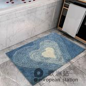 防滑墊/厚款衛浴浴室地墊門墊現代簡約吸水防滑可水洗機洗淋浴房進門「歐洲站」