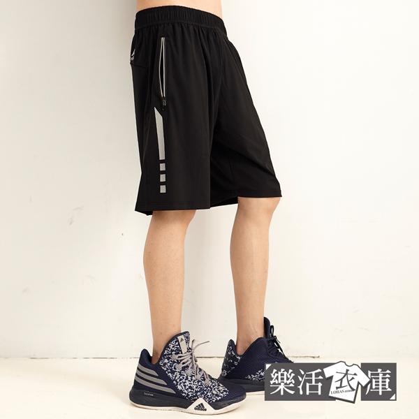 【066-5051】超涼感彈力鬆緊抽繩運動休閒短褲 透氣 機能 輕薄(共二色)● 樂活衣庫