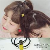 髮圈 Space Picnic|預購.立體方形造型設計髮圈【C18073008】