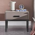 床頭櫃 現代簡約意式極簡烤漆床頭柜臥室收納柜北歐灰色床邊柜抽屜式