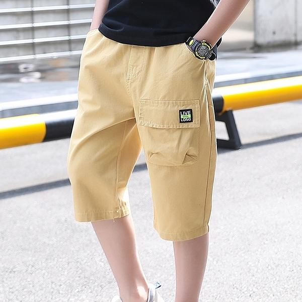 男童短褲 2021男童短褲夏季新款休閑純棉時尚工裝褲子中大童帥氣寬松童裝潮 小衣裡
