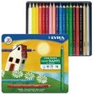 【德國 LYRA】3941181  六角漆皮粗桿彩色鉛筆 鐵盒裝 18色/盒
