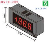 得益DER EE AC200V LED 顯示電壓錶頭DE 3672E AV41