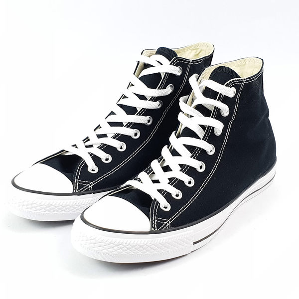 Converse 男/女 Chuck Taylor All Star 高筒 帆布鞋 黑/白 -M9160C