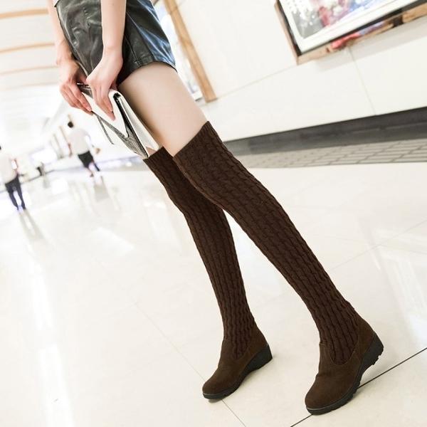 長靴 過膝靴高筒靴秋冬彈力靴女士兩穿瘦瘦靴時尚長款單靴子潮 晶彩