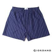 【GIORDANO】男裝高品味沈穩條紋配色四角褲(67深藍X紫X青)