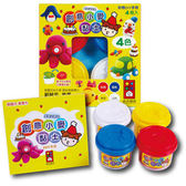 創意小麥黏土4色 幼兒玩具  (音樂影片購)