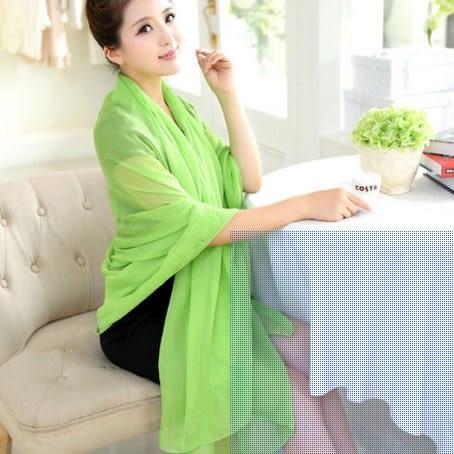 [協貿國際]  女士夏季純色防曬絲巾披肩紗巾圍巾 (1入)