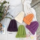 女童帽子毛線帽韓版百搭寶寶休閒針織保暖帽子【聚可愛】