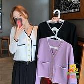 氣質v領針織衫外套女外搭長袖上衣毛衣開衫
