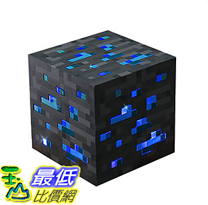 [106美國直購] ThinkGeek B00LBCPZ4C Light-Up Diamond Ore Officially Licensed Minecraft 燈