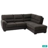◎布質左躺椅L型沙發 DOUBLE LINE DBR NITORI宜得利家居