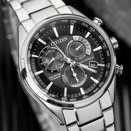 CITIZEN 星辰 Eco-Drive 質感鈦金屬電波光動能腕錶 CB5020-87E 熱賣中!