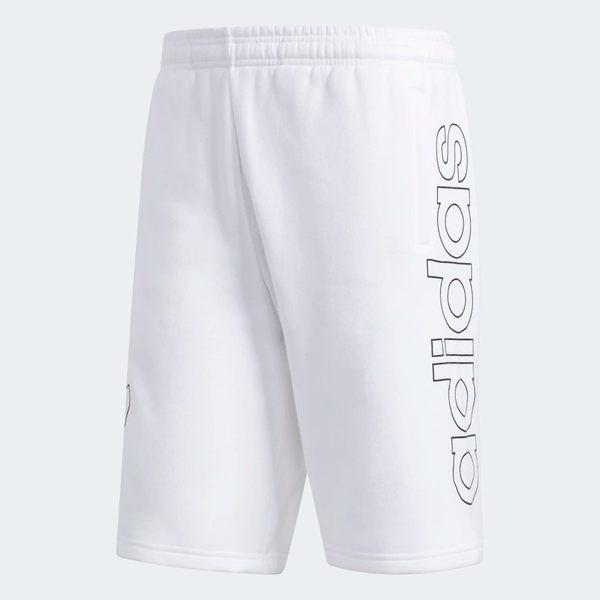 ADIDAS ORIGINALS OUTLINE 男裝 短褲 慢跑 訓練 健身 彭于晏 白 黑【運動世界】DV3275