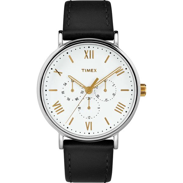 【TIMEX】天美時 風格系列 羅馬字三眼多功能手錶(白/黑TXTW2R80500)