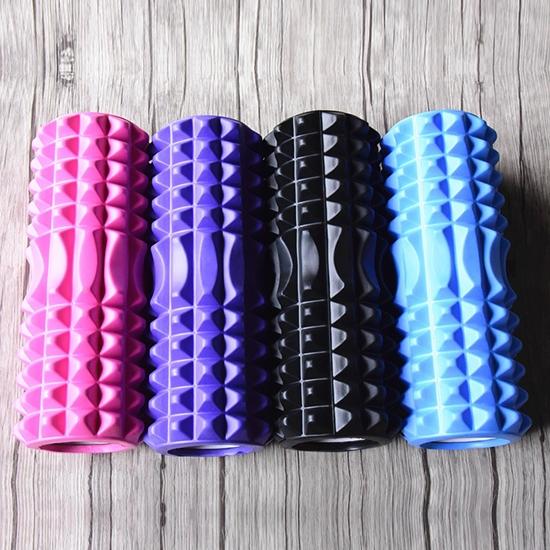 按摩滾筒 按摩器 平衡滾筒運動 健身 泡沫軸 滾軸 瑜伽  EVA 顆粒瑜珈滾輪【J179】米菈生活館