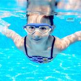 兒童泳鏡高清防霧防水男童女童電鍍泳鏡糖果撞色 大框游泳眼鏡   初見居家