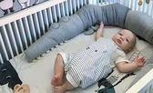 ins兒童鱷魚抱枕寶寶床圍安撫枕嬰兒圍欄兒童房裝飾 藍嵐
