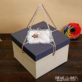 彈跳盒子 彈跳裝飾帶蓋婚禮設計打包禮物盒女生防潮方形包裝客廳空盒 傾城小鋪