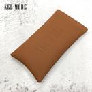 【KEL MODE】高級皮革眼鏡袋/哈哈袋/軟式眼鏡袋/筆袋/手機袋(淺咖啡色)