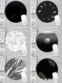 滑鼠墊 原創設計滑鼠墊錦鯉水母可愛女男生圓形加厚小號辦公游戲簡約電腦 米蘭潮鞋館