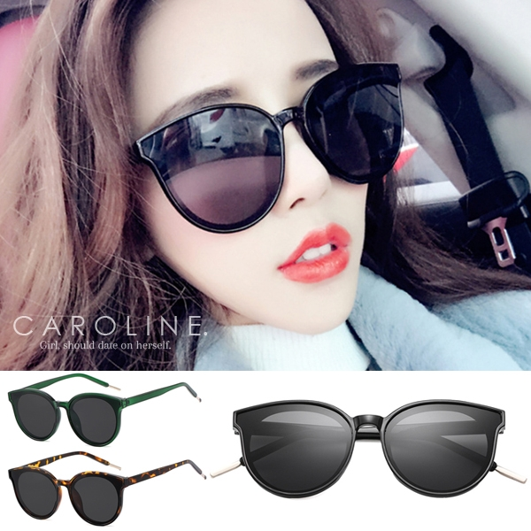 《Caroline》年度最新網紅款潮流行時尚百搭明星抗UV太陽眼鏡 70620