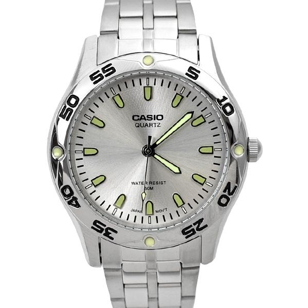 CASIO手錶 清晰數字夜光刻度鋼錶NECE47