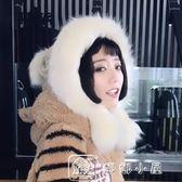 毛帽 加厚雷鋒帽子可愛韓版東北帽護耳青年女冬保暖雙層兔毛蒙古毛線帽 全館免運
