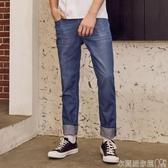 特賣牛仔褲牛仔褲男夏季新款青少年潮流時尚直筒長褲