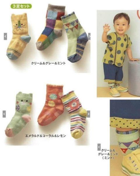 【發現。好貨】千趣會 襪子 3雙组嬰幼童襪 防滑短筒寶寶襪 男女立體童襪 卡通兒童襪 B