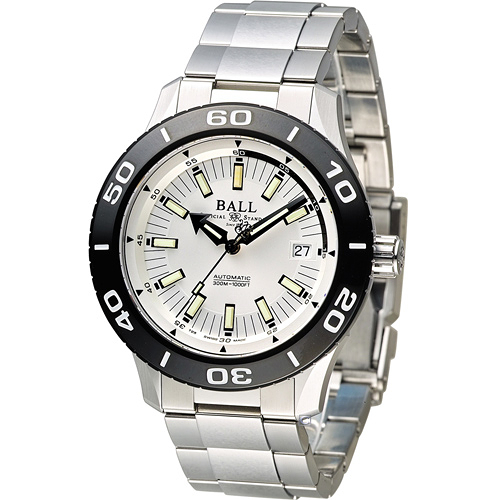 BALL 波爾 FIREMAN 戰火勇士系列機械腕錶 DM3090A-SJ-WH