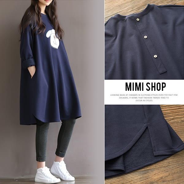 孕婦裝 MIMI別走【P52740】日系輕甜 逗趣狗狗連衣裙 孕婦裙