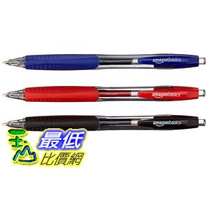[106美國直購] AmazonBasics Retractable Gel Pens - 50 Pack (Assorted Colors)