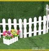 聖誕節裝飾品聖誕樹木柵欄纖維柵木欄圍欄小籬笆場景裝飾實木柵欄 初語生活館