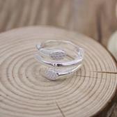 戒指 925純銀鑲鑽-三層竹節生日情人節禮物女開口戒73dt804【時尚巴黎】