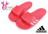 adidas 拖鞋 Aqualette W 防水 經典 輕量 休閒 運動拖鞋O9328#紅色◆OSOME奧森童鞋/小朋友
