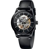 Calvin Klein CK Swing 鏤空機械手錶-黑/41mm K9A244CY