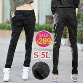 BOBO小中大尺碼【09972】中腰寬版鬆緊哈倫窄管褲-S-5L-共2色